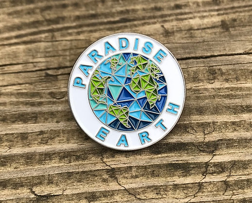 4 Count Paradise Earth Lapel Pin.