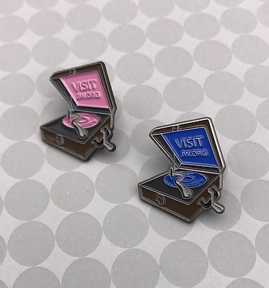 2 Count Phonograph Lapel Pin