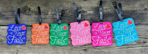 Love Never Fails Luggae Tags English for Jehovah's Witnesses