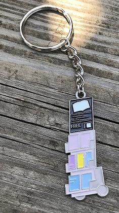 100- Literature Cart Mini-Keychain