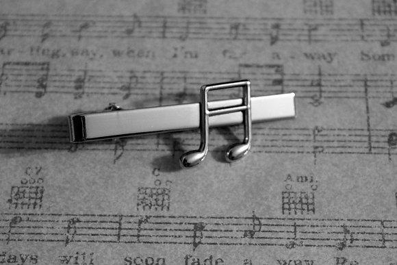Music Note Tie Clip