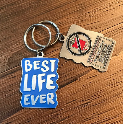 Best Life Ever Blue No Blood Keychain
