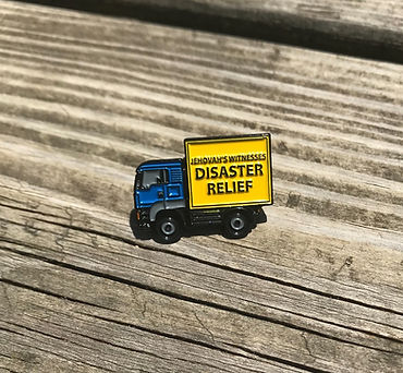 Jehovah's Witnesses Disaster Relief Transportation Lapel Pin