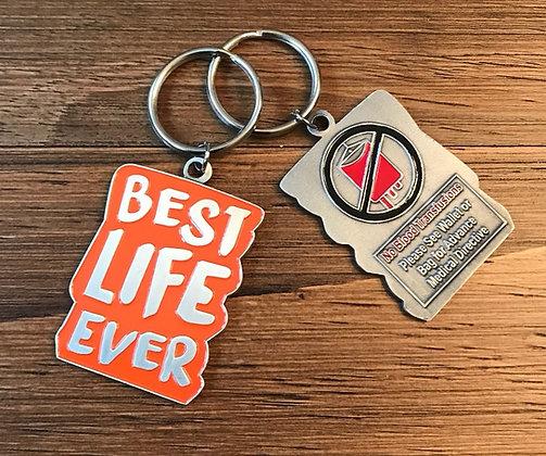 Best Life Ever Orange No Blood Keychain