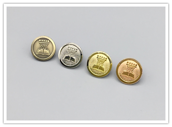 "100 Tower 3/4"" Round Lapel Pins"