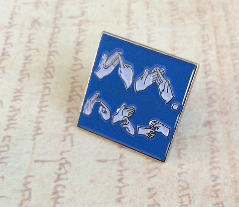 "25 Blue BSL JW.ORG 3/4"" Square Lapel Pins"