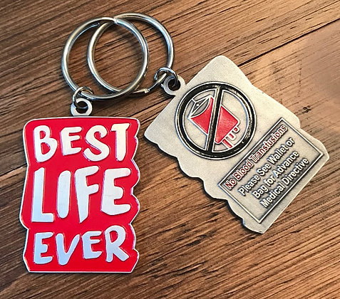Best Life Ever Red No Blood Keychain