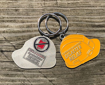 Disaster Relief no Blood KEychain for Je