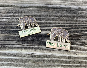 Everlasting Life Elephant Lapel Pins for