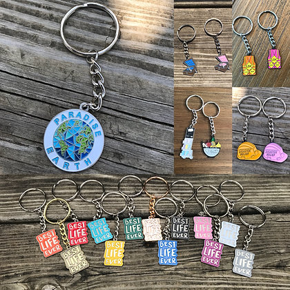 2- Custom Mix of Mini-Keychains