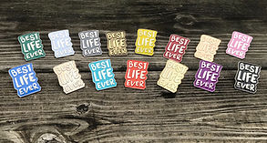 Best Life Ever English Lapel Pins for Je
