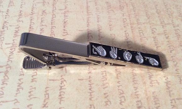 JW.ORG ASL Tie Clip Black