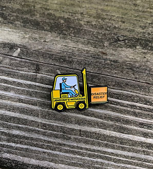 Disaster Relief Lapel Pin for Jehovah's Witnesses Forklift