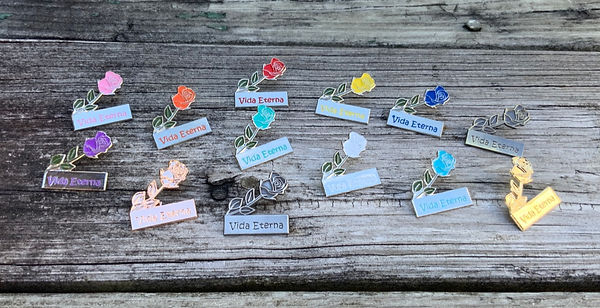 Everlasting Life Rose Lapel Pins for Jeh