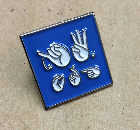 "8 Blue ASL JW.ORG 3/4"" Square Lapel Pins"