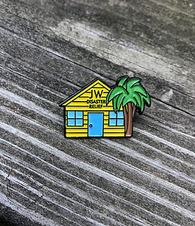 Disaster Relief of Jehovahs Witnesses Housing Lapel Pin