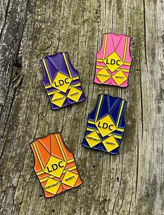 1- LDC Safety Vest Lapel Pin