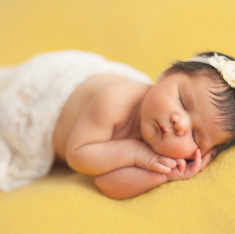 yellow backdrop baby