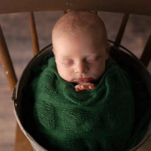 baby in chair