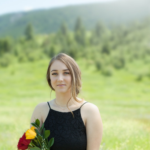 grad photos flowers
