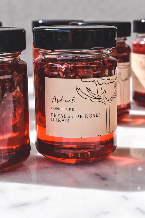 Confiture de pétales de roses d'iran 200g