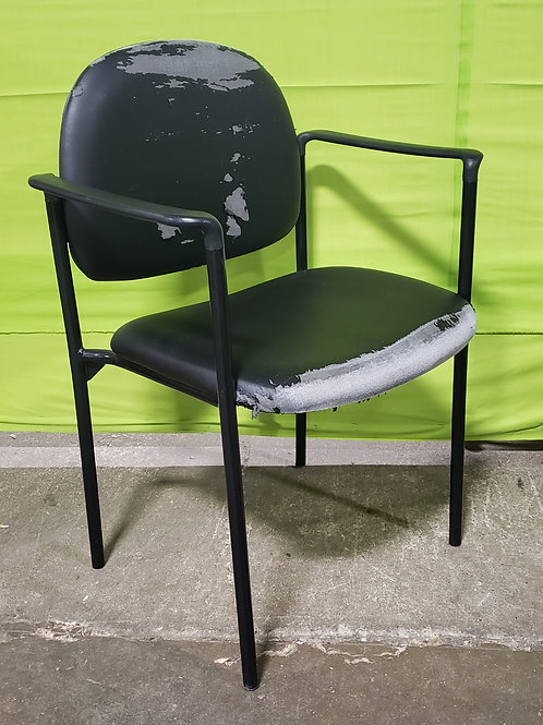 Side Chair, Black metal with arms