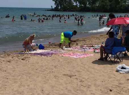 Dyeing on the Beach -- Monika Neuland's Experiential Workshops Run through August