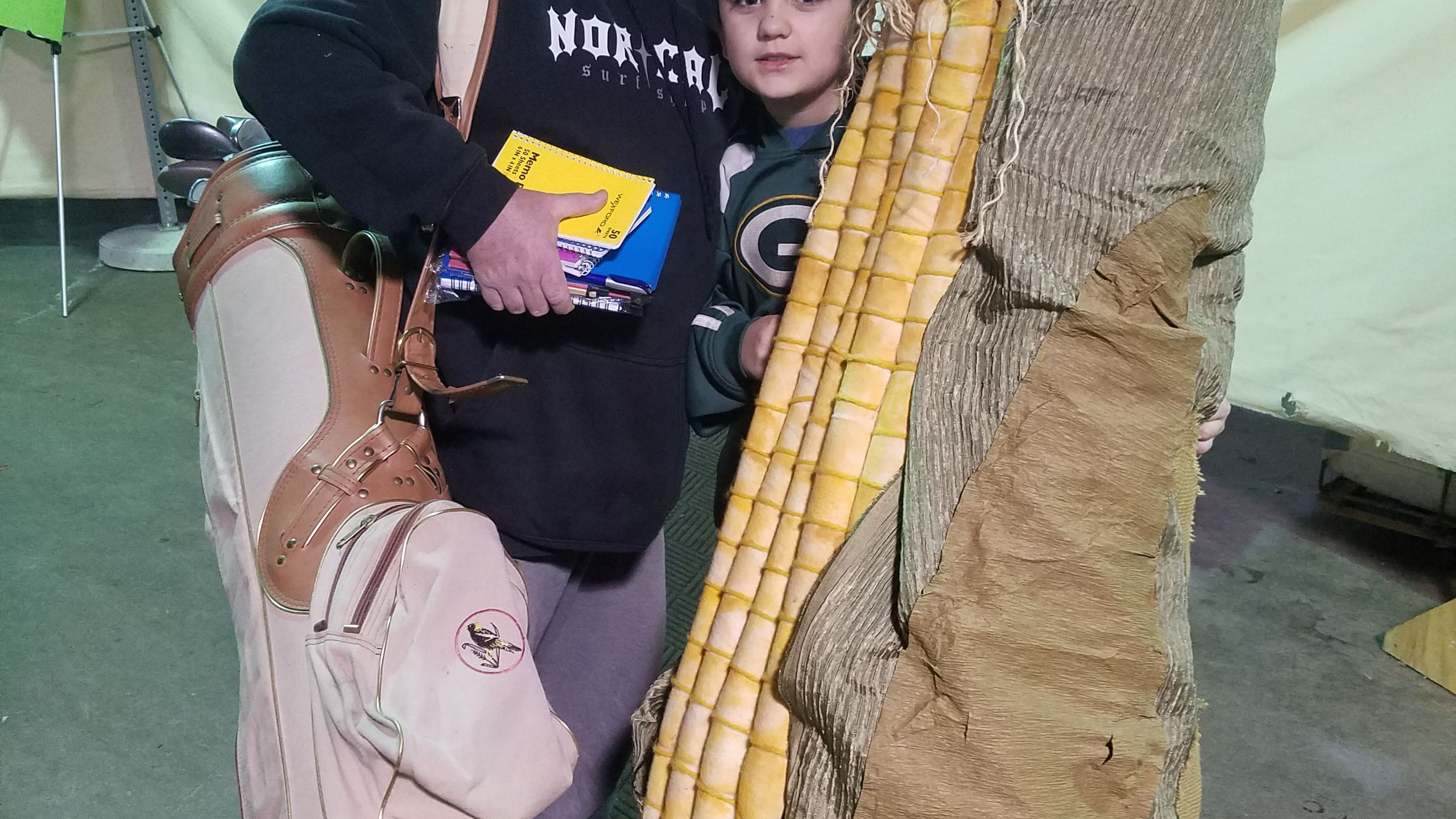 Look who got the giant ear of corn