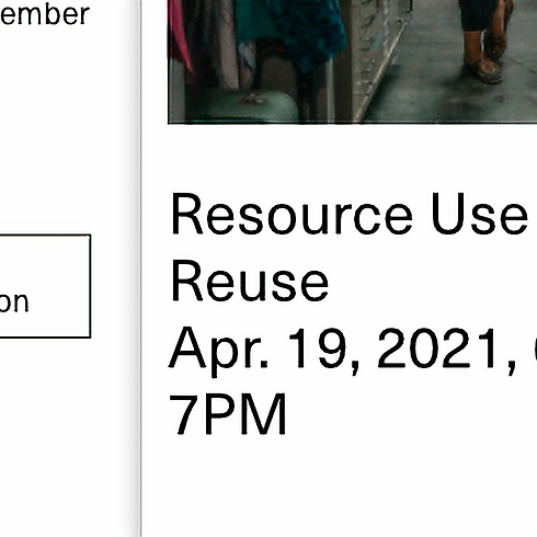 """Mana Contemporary Zoom:  """"Resource Use and Reuse"""""""