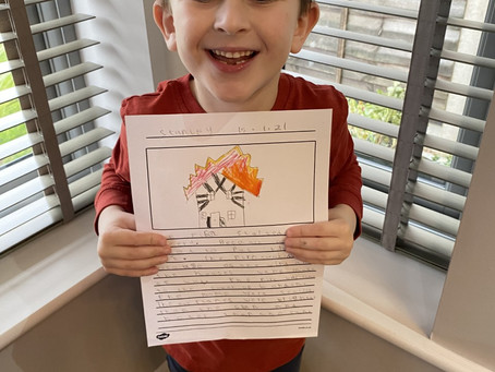 Stanley is enjoying learning about the Great Fire of London