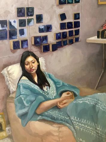 Momo in her studio, 2019