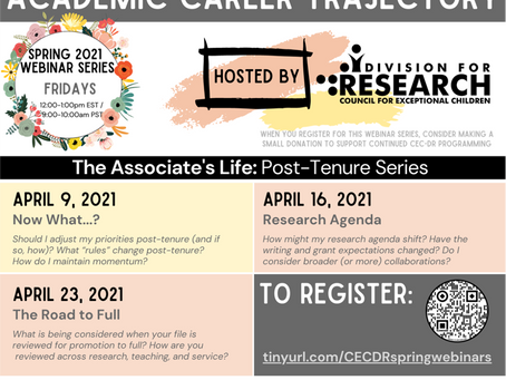 CEC Division for Research Webinar Series