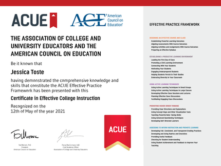 ACUE Certification in Effective College Teaching