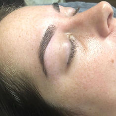 Brow tint and wax- no fill needed on the