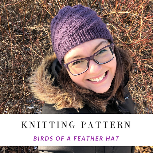 Birds of  a Feather Hat [Knitting Pattern]