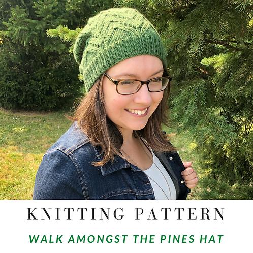 Walk Amongst the Pines Hat [Knitting Pattern]