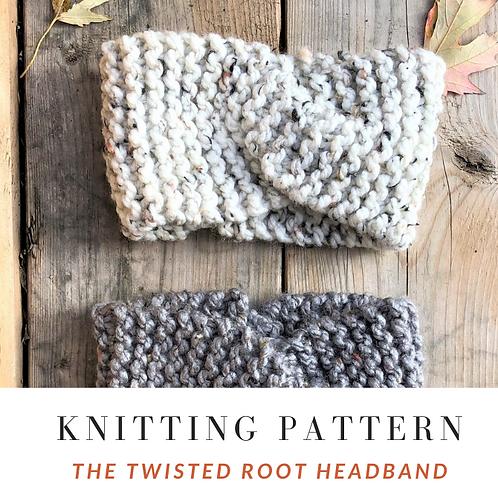 Twisted Root Headband [Knitting Pattern]