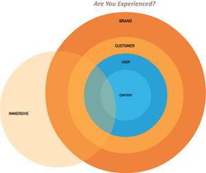 Venn diagram of content, user, customer and brand experiences