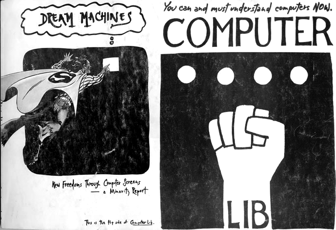 The original cover of Computer Lib by Ted Nelson