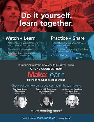 Make: Learn Print Ad