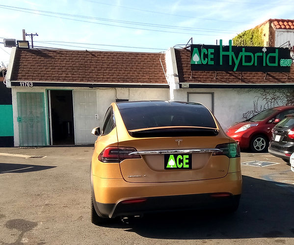 Tesla Model X, Battery Replacement, Ace Hybrid Group