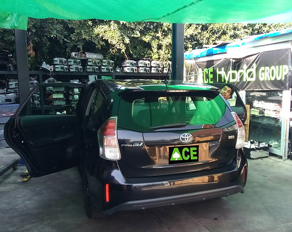 Toyota PriusV Hybrid Battery Installation, Ace Hybrid Group