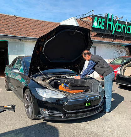 Tesla Model S, Battery Replacement, Ace Hybrid Group