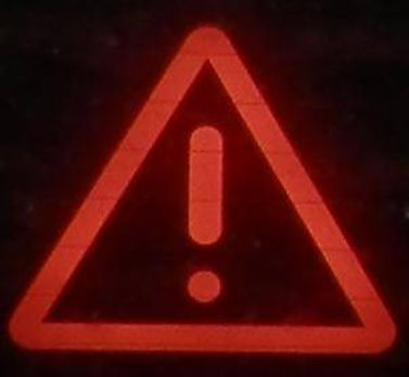 Toyota Prius Dashboard Warning Light for Hybrid Battery. Triangle of Death