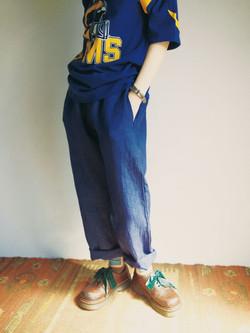 Pants linen/Navy