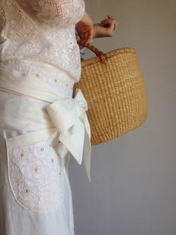 Apron skirt/Natural