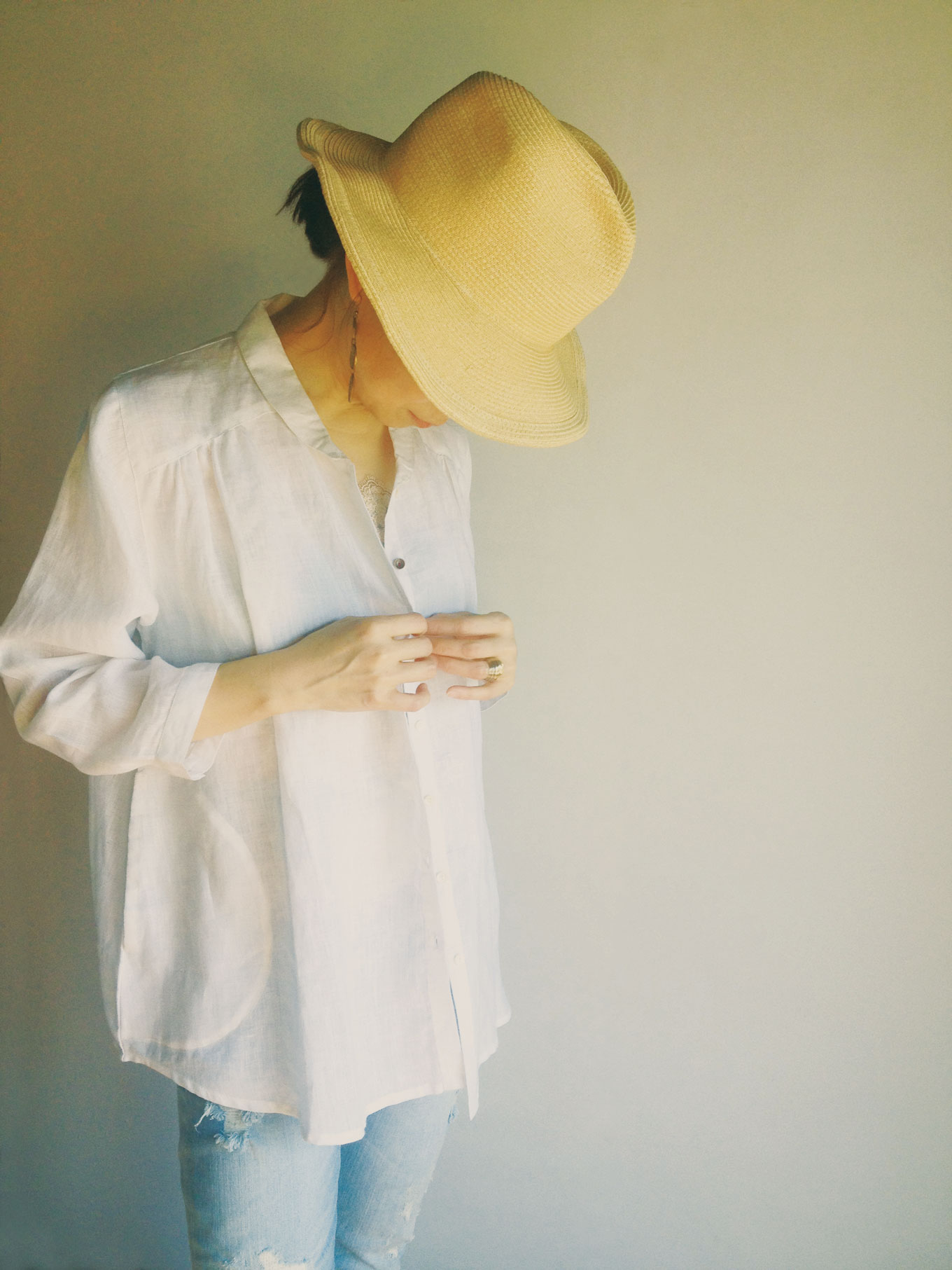 Shirts linen/White