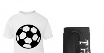 Football Personalised side shorts set with hat