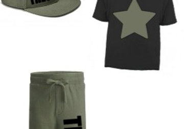 Star Personalised side shorts set with hat