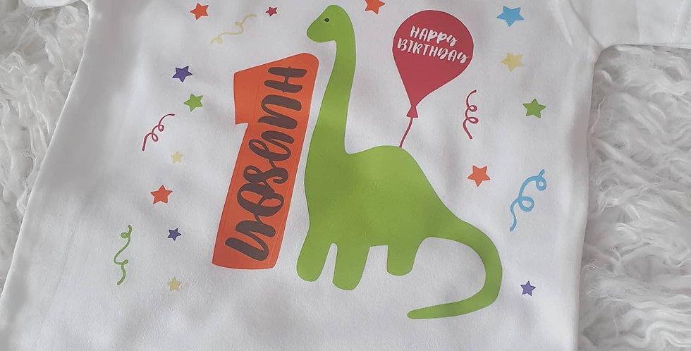 Dino birthday T-shirt